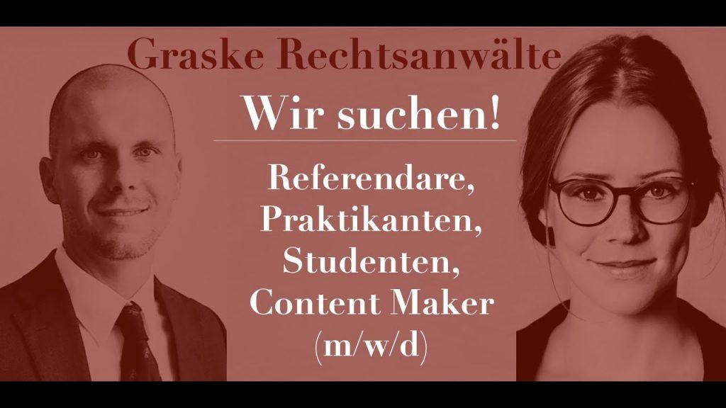 Wir suchen Referendare