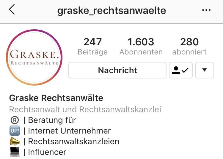 Instagram @graske_rechtsanwaelte