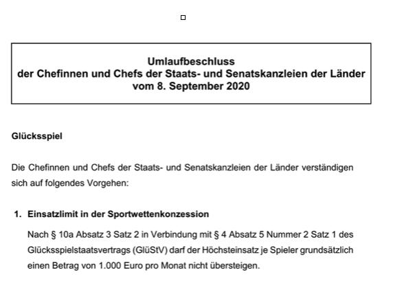 Umlaufbeschluss vom 08.09.2020