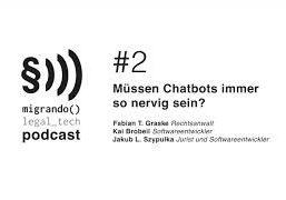 Nerven dich Chatbots auch? Legal Tech Podcast